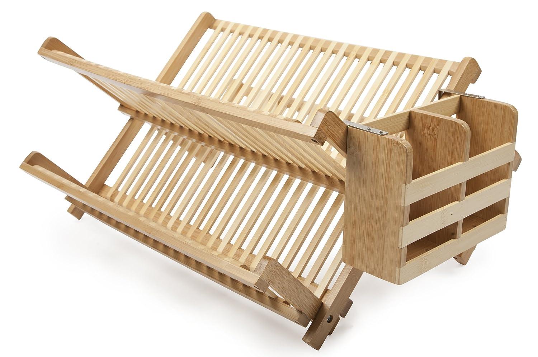 Tiers compact dish rack kitchenware dish drying rack dish drainer - Amazon Com Core Bamboo Dish Rack With Utensil Holder Natural Utensil Organizers Kitchen Dining