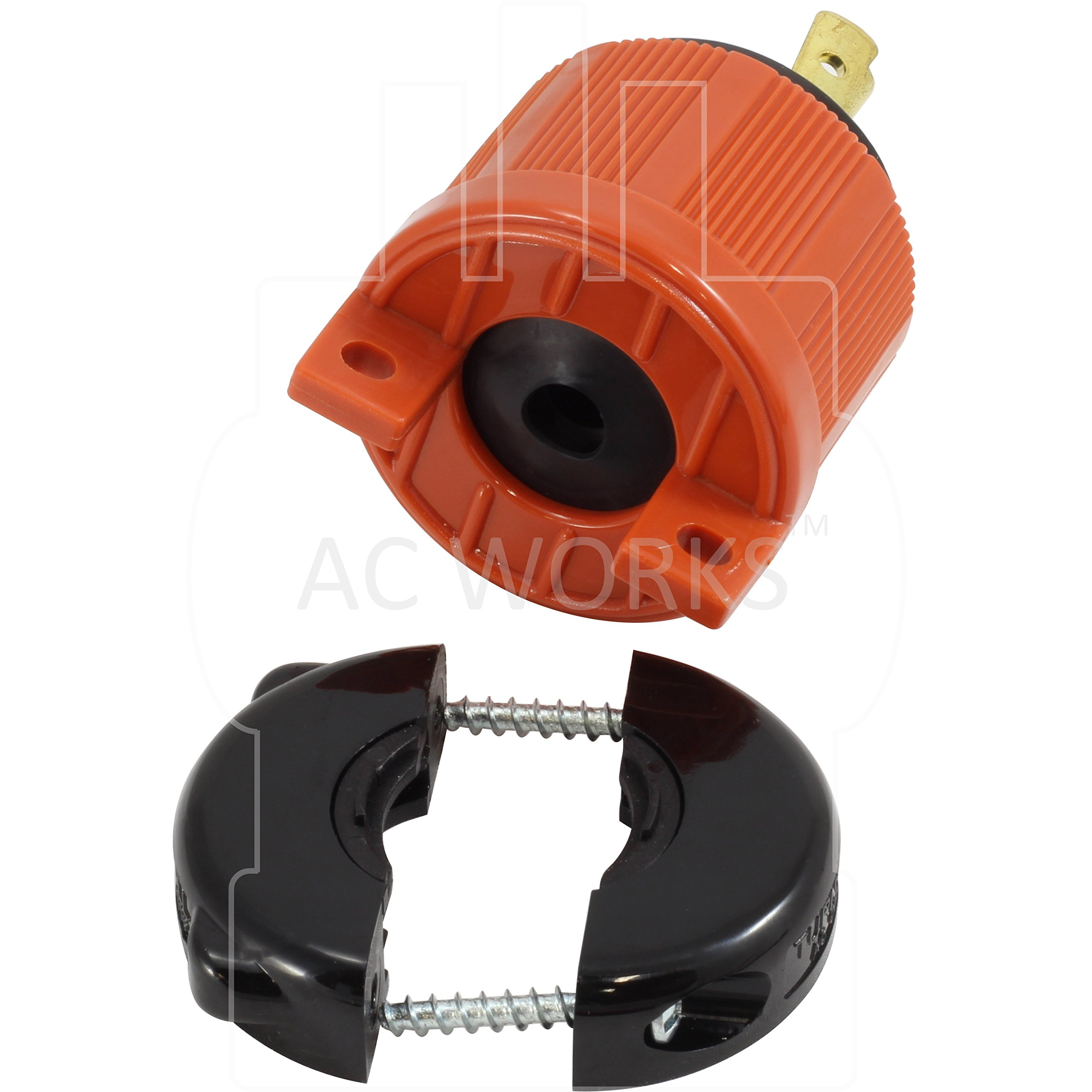 AC WORKS [ASL620P] NEMA L6-20P 20Amp 250Volt 3 Prong Locking Male Plug With UL, C-UL Approval by AC WORKS (Image #4)
