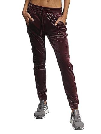 adidas Femme Pantalons   Shorts Jogging Velvet Vibes Rouge 32 ... b479fcd7d92