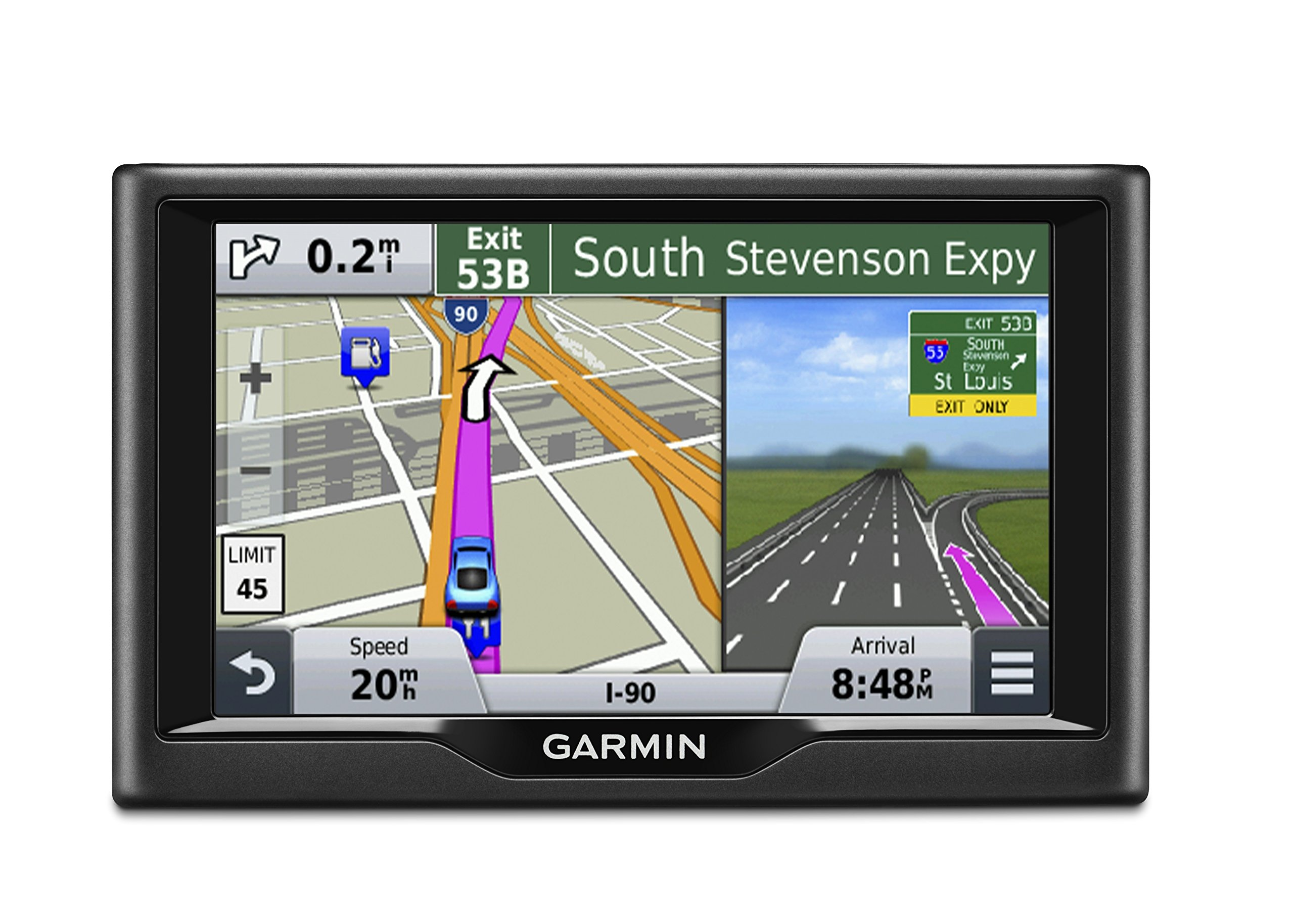 Garmin Nuvi 57LM GPS Navigator System with Spoken Turn-By-Turn Directions,5 inch display, Lifetime Map Updates, Direct Access, and Speed Limit Displays by Garmin