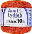 Coats Crochet Aunt Lydia's Crochet, Cotton Classic Size 10, Pumpkin
