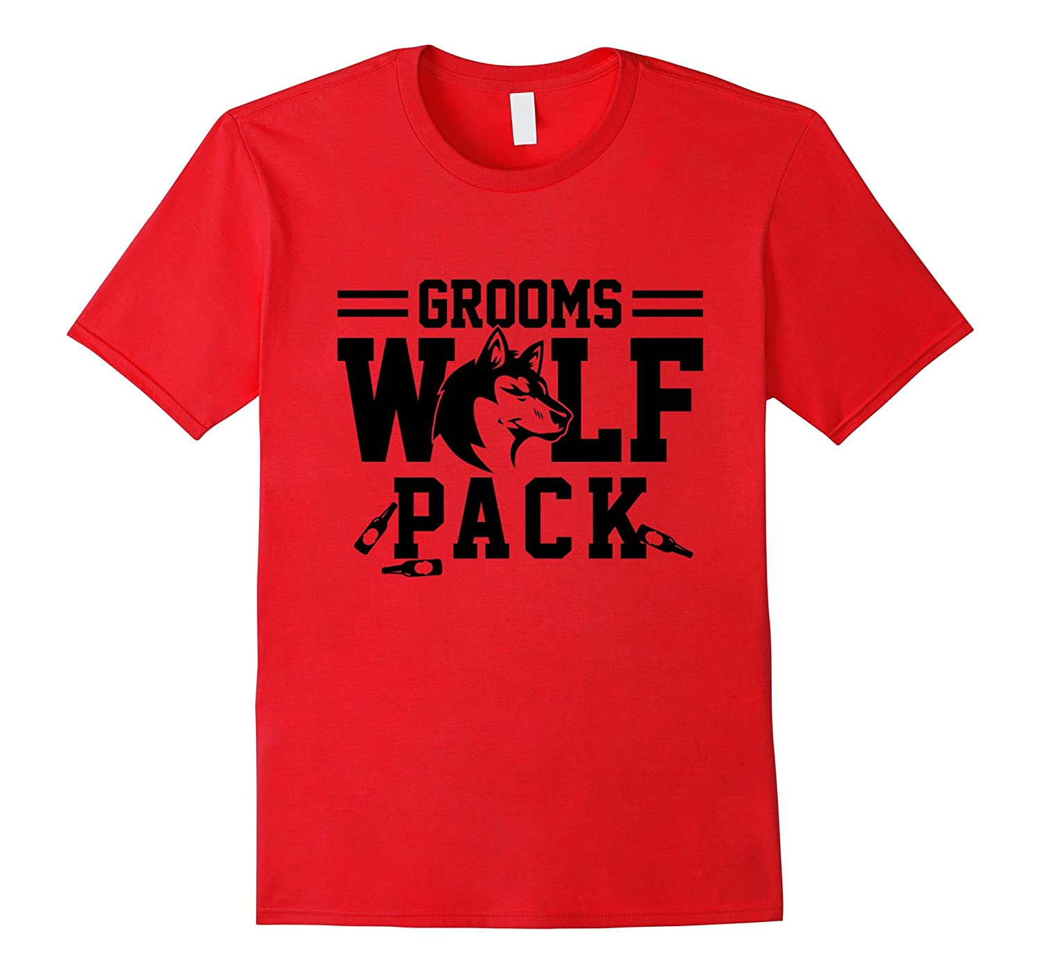 Grooms wolfpack t shirt – Bachelor party drinking team gift