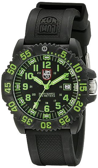luminox (LUMINOX) sellos de la marina militar miran el reloj resistente al agua 20 atm hombres negros: Amazon.es: Relojes