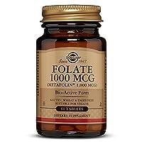 Folate 1000 MCG (Metafolin® 1,000 MCG) Tablets - 60 Count
