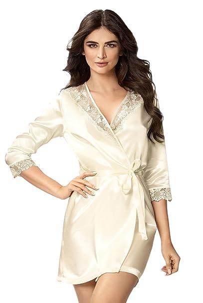 Selente - Bata - para mujer Beige Modell 1 Ekru xx-large: Amazon.es: Ropa y accesorios