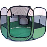 Mcboson 47'' Pets Portable Foldable Pet Playpen Tent Water Resistant Extra Interior Space Play Yard, Portable Kennel for Your Dogs, Cats, Puppy or Guinea Pig--Green