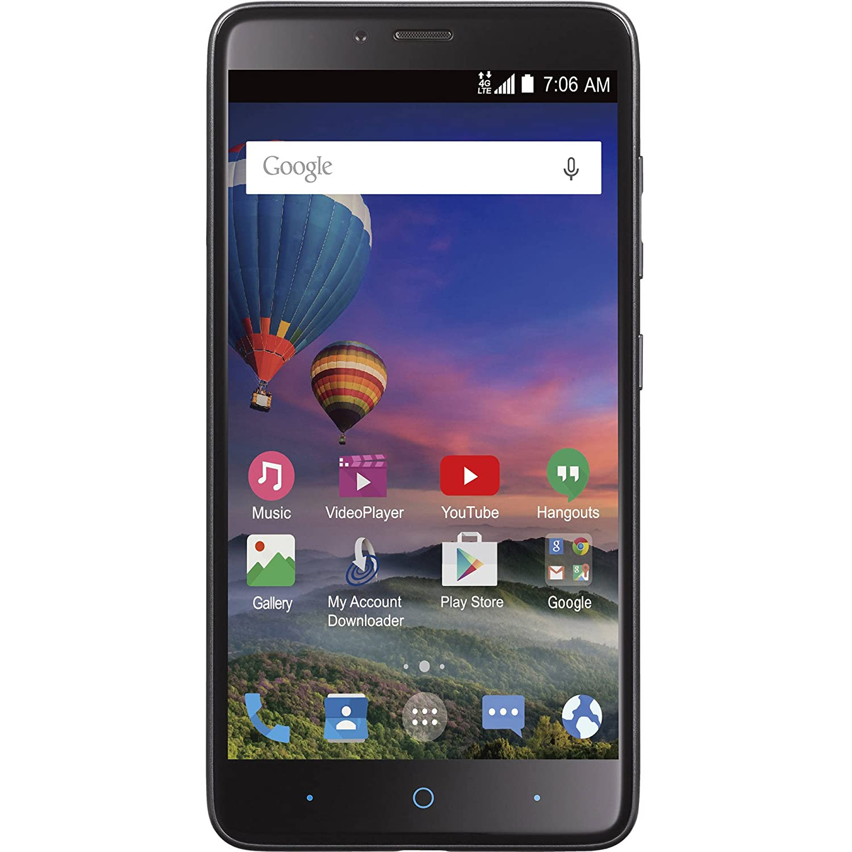 Straight Talk ZTE Max Duo 4G LTE Prepaid Smartphone 6-inch 1080p Display