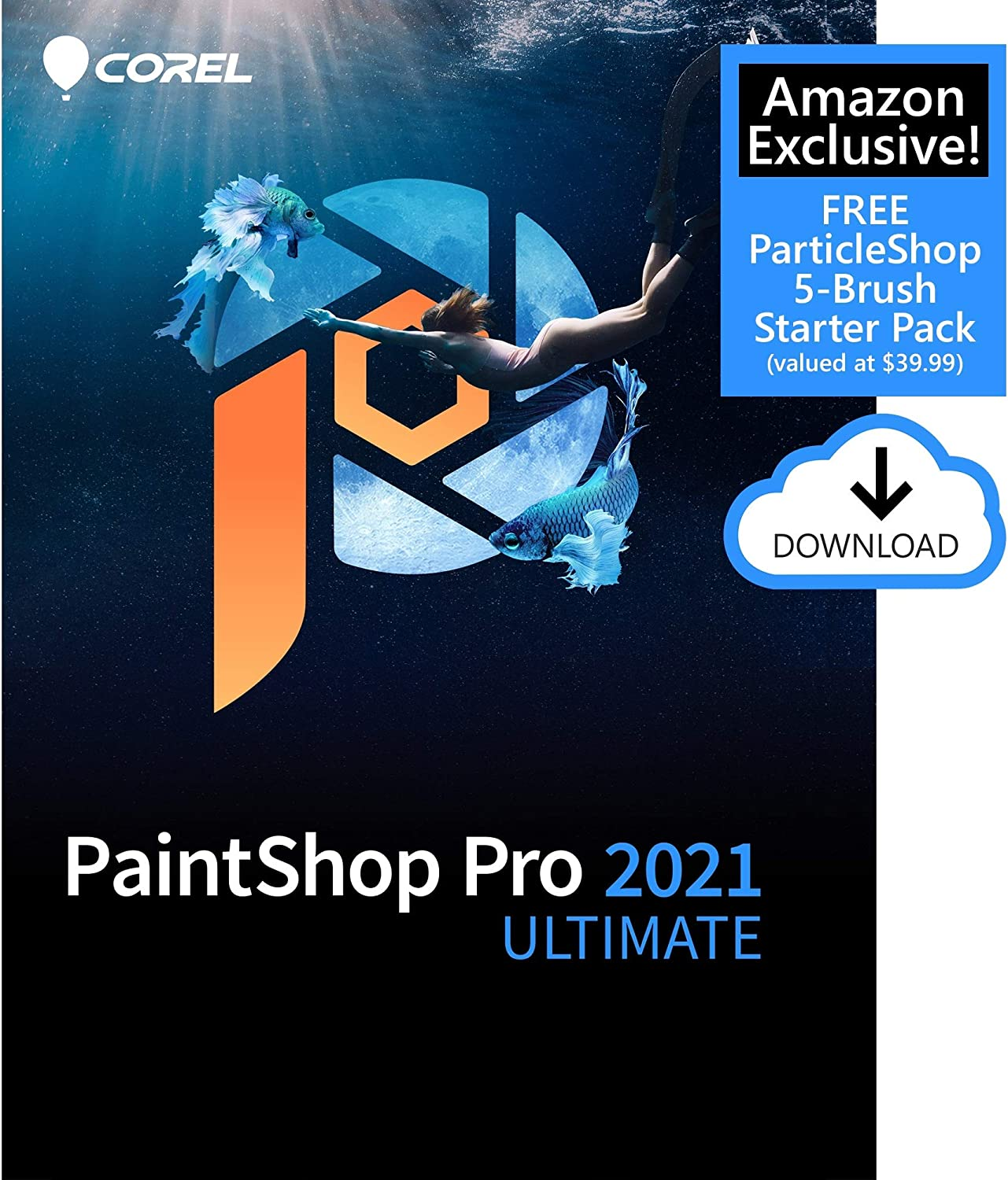 Amazon Com Corel Paintshop Pro 2021 Ultimate Photo Editing Graphic Design Software Plus Creative Collection Amazon Exclusive 5 Brush Starter Pack Pc Download Software