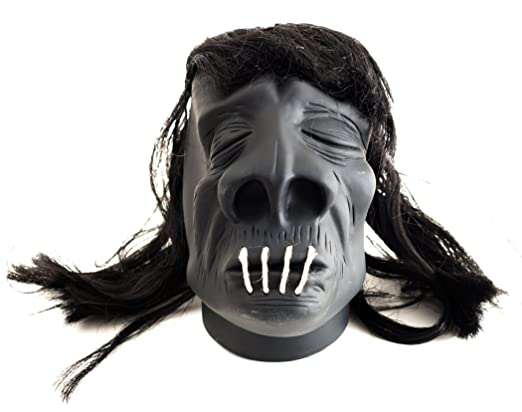 Deluxe Adult Costumes - Small black shrunken head pirate accessory