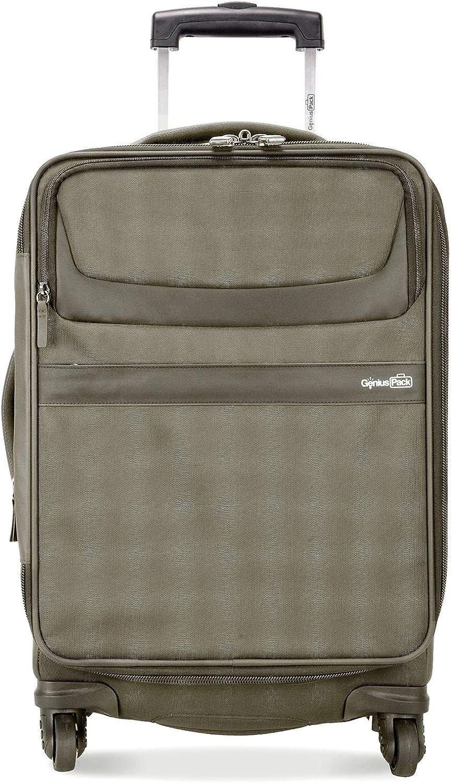 Genius Pack G4 - Maleta de Mano (56 cm, Ligera, Titanio): Amazon ...