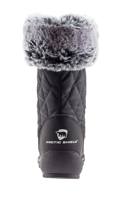 ArcticShield Womens Anna Warm Waterproof Insulated Comfortable Memory Foam Fur Winter Snow Boots