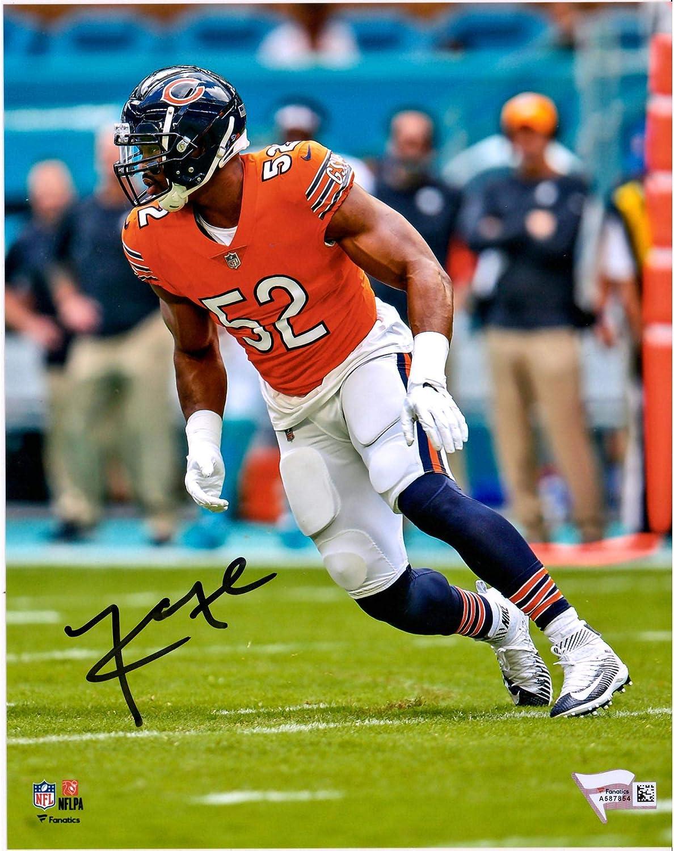 Khalil Mack Chicago Bears Autographed 8