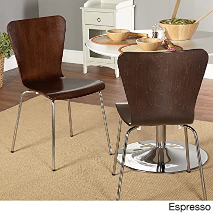 Beau Simple Living Pisa Bentwood Stackable Dining Kitchen Chairs (Set Of 2)  (espresso)