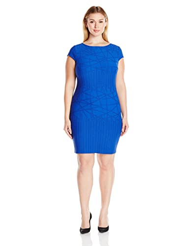 Julia Jordan Women's Plus-Size Cobalt Dress