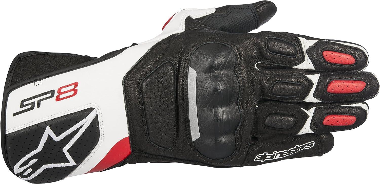 Alpinestars Motorradhandschuhe kurz Motorrad Handschuh SP-8 V2 Lederhandschuh Sportler Herren Ganzj/ährig