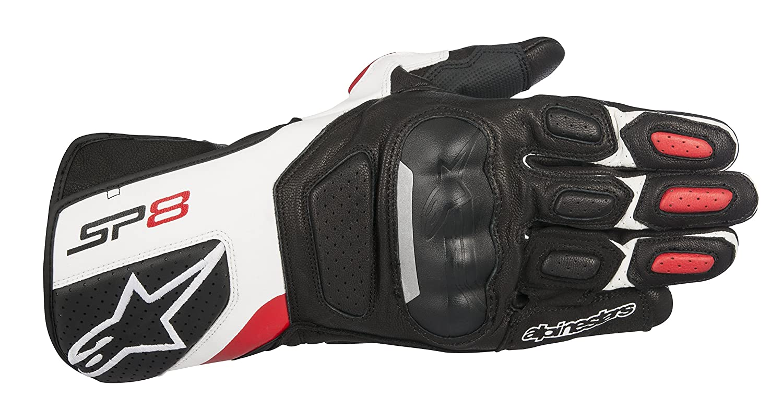 Black//Dark Grey Alpinestars SP-8 V2 Full Grain Leather Motorcycle Gloves