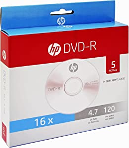 HP CD-Rs (DVD-R, 5-Disc Slim Case)