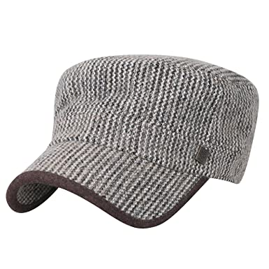 341addf8016 ililily Large Size Mixed Color Military Army Hat Wool-blend Vintage Cadet  Cap  Amazon.co.uk  Clothing