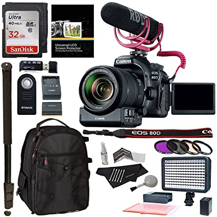 Canon EOS 80D Video Creator Kit with EF-S 18-135mm IS USM Lens : canon lighting equipment - www.canuckmediamonitor.org