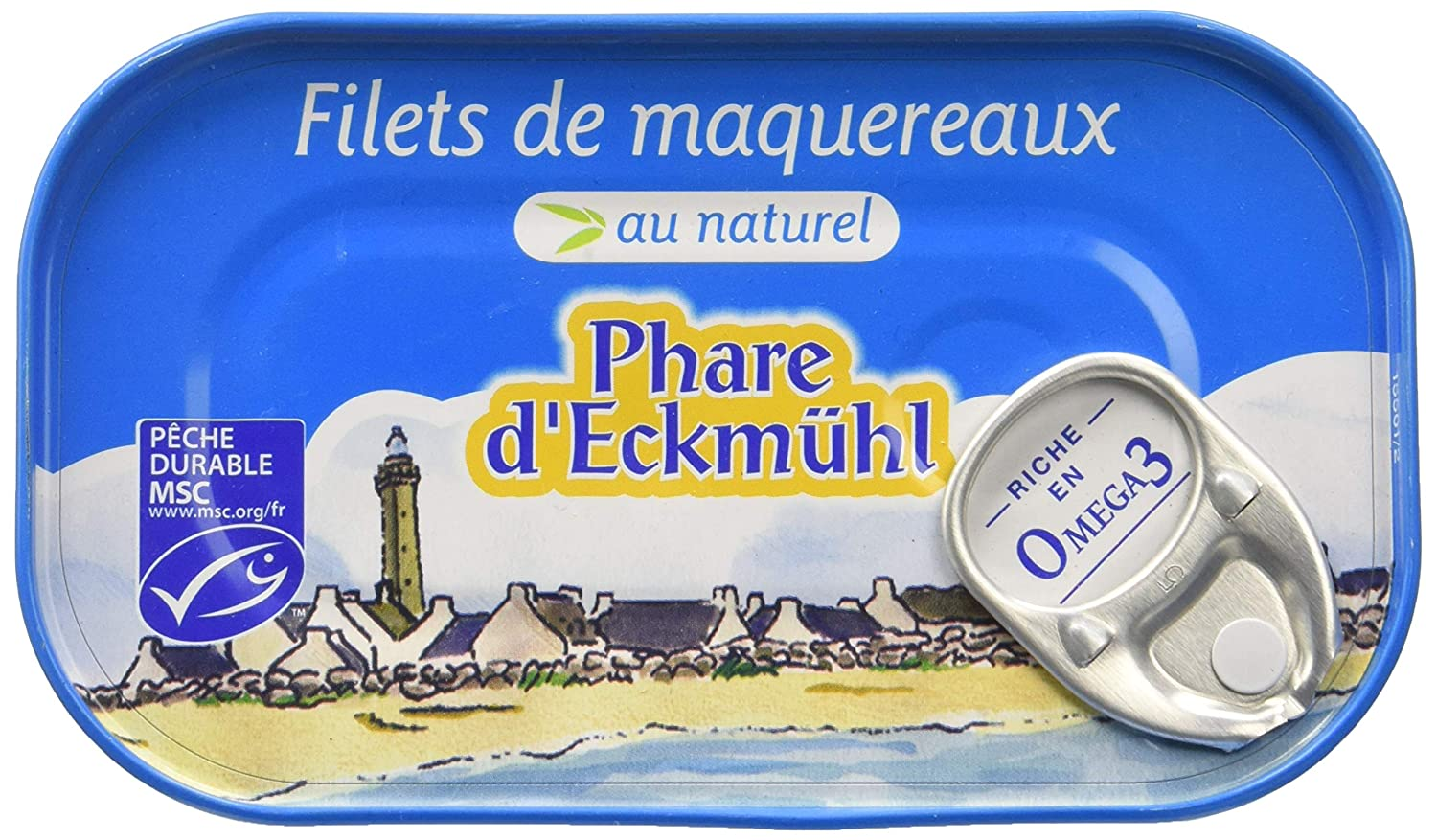 Phare d'Eckmül Maquereaux Filets MSC Naturel Bio 113 g