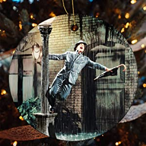 Ceramic Ornament Singin' in The Rain (1952) Xams Tree Ornaments Keepsake