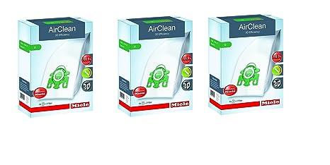 Amazon.com: Miele 3d eficiencia bolsas para aspirador tipo U ...
