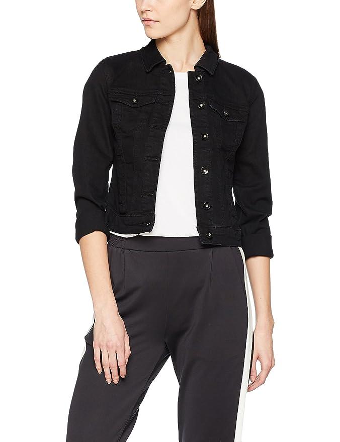 d8fab9959921 Vero Moda Vmhot Soya Ls Denim Jacket Mix Noos, Chaqueta para Mujer, Blanco (
