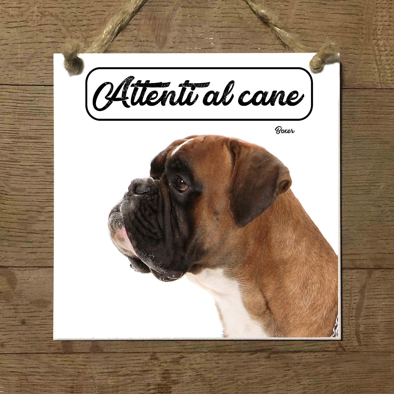 Boxer Mod 1 cuidado con el Perro matrícula azulejo cartel ...