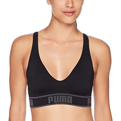 688aba1b0ee PUMA Women s Seamless Sports Bra at Amazon Women s Clothing store
