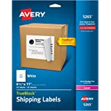 Avery Shipping Labels for Laser Printers with TrueBlock Technology, Full Sheet, White, 8.5 inches x 11 inches, Pack of 25  (5265)