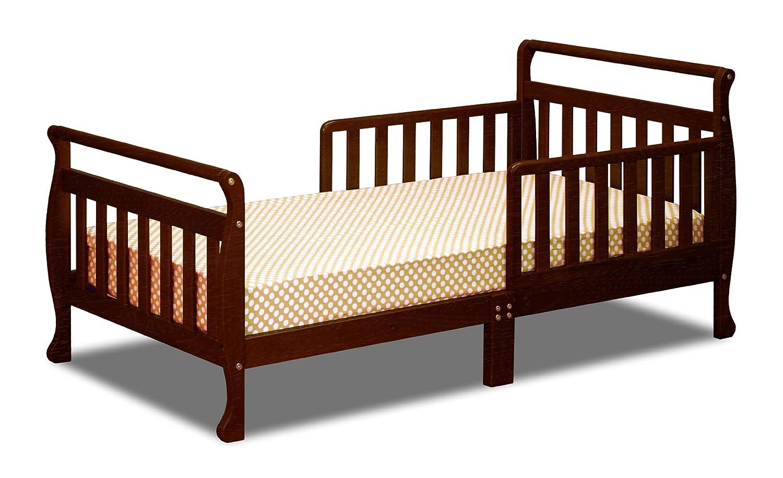 Athena Anna Sleigh Toddler Bed, Espresso