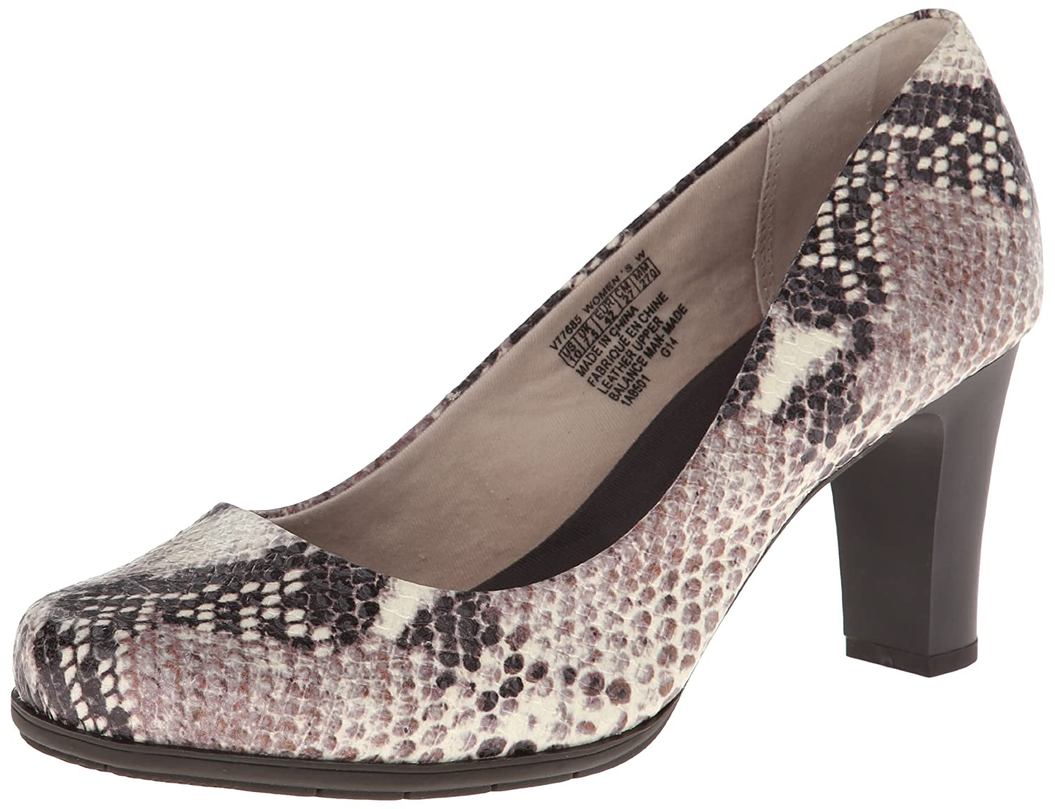 Python Print Leather Rockport Women's Total Motion Pump