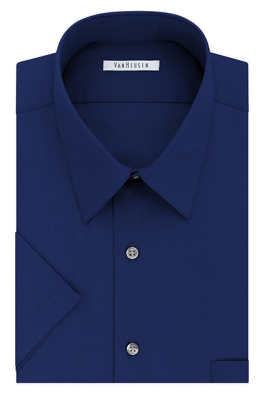 Van Heusen Men's Short Sleeve Poplin Solid Dress Shirt 20F7892