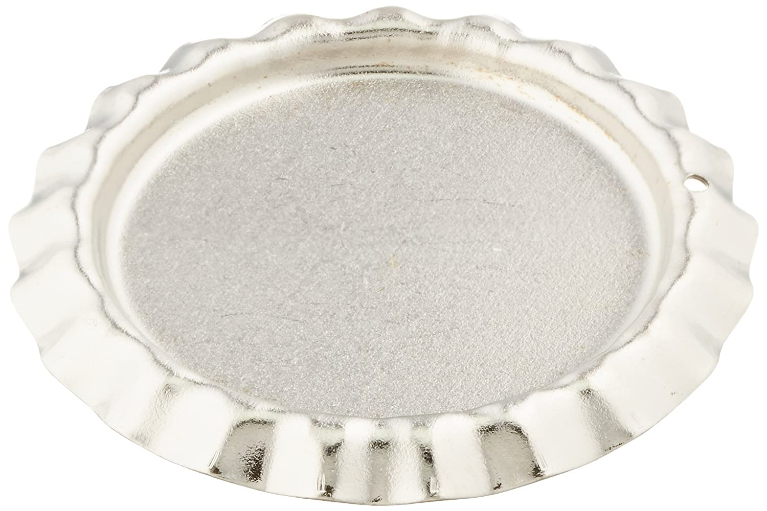 Darice SSR 518 6 Piece Flat with Hole Bottle Caps 1 Inch Silver