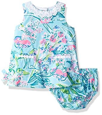 5e122219209fd1 Lilly Pulitzer Girls Baby Lilly Shift, Bali Blue Sway This Way 6-12 M