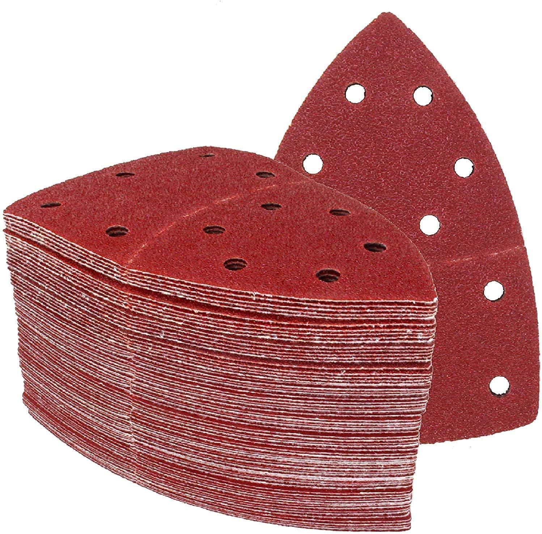 60/pages Velcro Prio Papier abrasif 105/x 152/mm 11/trous Grain M/élange je 10/feuilles K40//K60//K80//K120//K180//K240