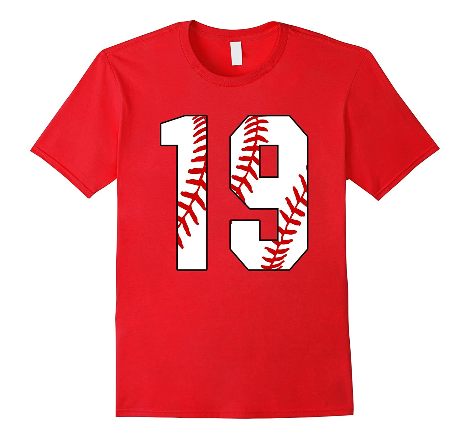#19 Baseball 19th Birthday Nineteen Baseball Mom T-shirt-TH