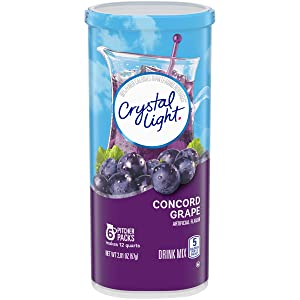 Crystal Light Concord Grape Drink Mix, Pitcher Packets, 6 Count