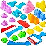 USA Toyz Sand Molds Beach Toys for Kids - 23pk Mini Sandbox Toys for Toddlers, Sand Castle Building Kit with Kinetic Sand Mol