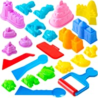 USA Toyz Sand Molds Beach Toys for Kids - 23pk Sand Castle Building Kit Sandbox Toys for Toddlers with Kinetic Sand…