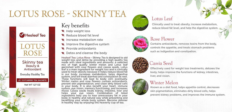Amazon Healeaf Tea Lotus Rose Skinny Tea 12 Tea Bags 14