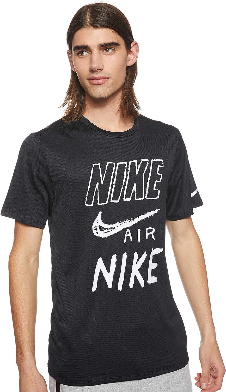 NIKE M Nk Brthe Run Top SS Gx Camiseta de Manga Corta Hombre