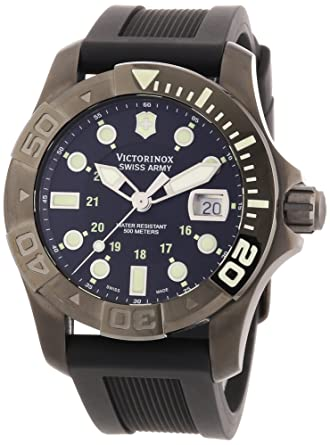5519792b3a3 Image Unavailable. Image not available for. Color  Victorinox Swiss Army  Men s   Dive Master 500 Black ...
