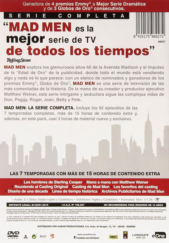 Pack Mad Men Temporadas 1 A 7 [DVD]: Amazon.es: John Hamm ...