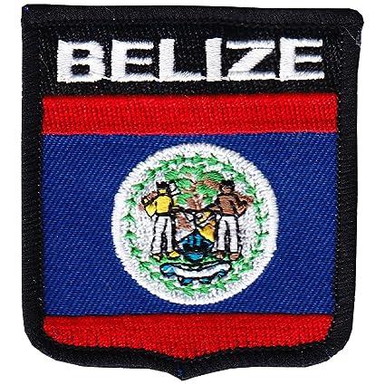 Amazon.com: Belice – País Escudo parche: Jardín y Exteriores