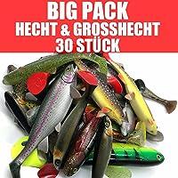 Jackson Profi Gummifisch Set - Big Hecht & Großhecht Angeln 17,5-30cm - 30 STÜCK