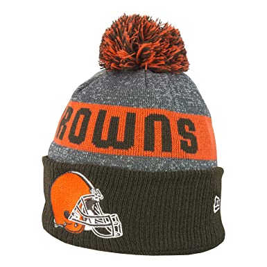 Image Unavailable. Image not available for. Color  New Era NFL Sideline  Cleveland Browns Bobble Knit Beanie ... 460772c592a