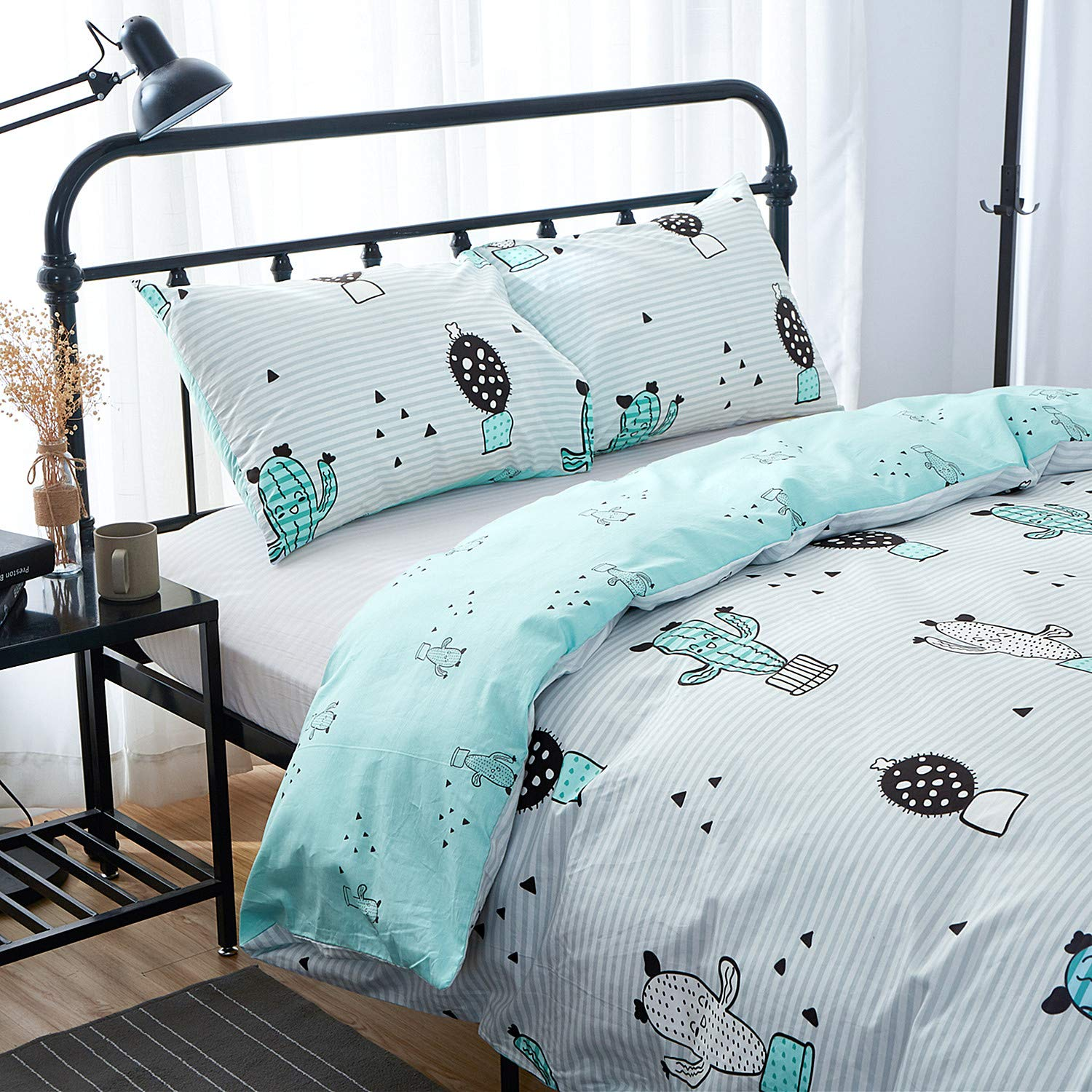 Jumeey Duvet Cover Bear Print 3 Pieces Animal Kids Bedding Sets Twin Yellow for Boys Girls 100/% Cotton Hotel Quality Bedding Collection Soft Hypoallergenic