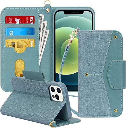 Amazon Com Toplive Compatible With Iphone 12 Pro Max 6 7 Inch Premium Wallet Case Folio Flip Cover Rfid Blocking Kickstand Card Holder Case Wallet For Iphone 12 Pro Max 5g 2020 Green
