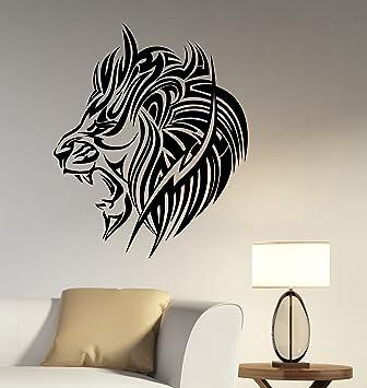 Tribal African Lion Decal Vinyl Sticker Animal Art Wildlife Decorations For Home Housewares Kids Living Room